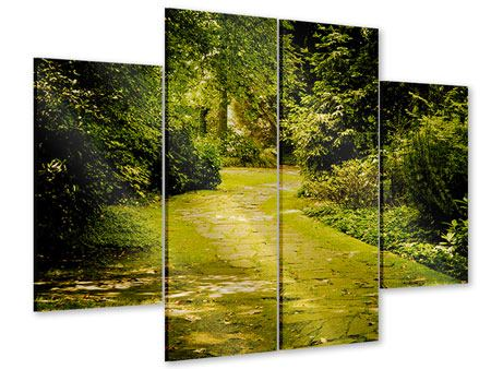 Acrylglasbild 4-teilig Der bemooste Weg