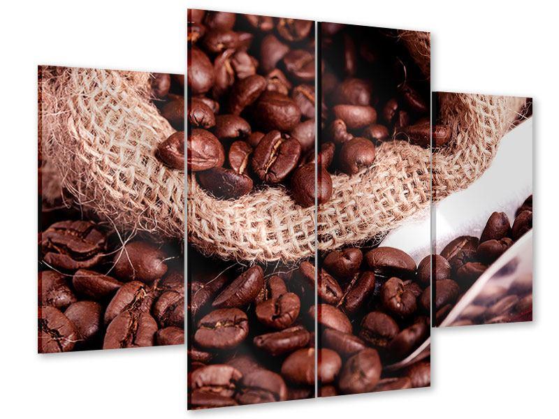 Acrylglasbild 4-teilig XXL Kaffeebohnen