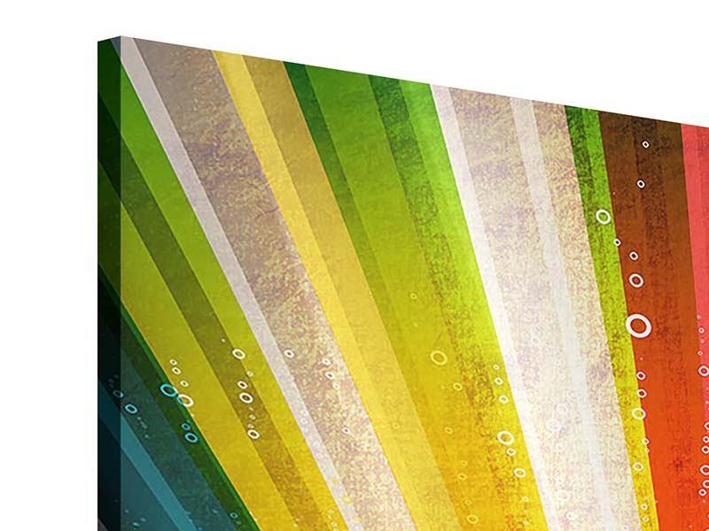 Acrylglasbild 4-teilig Abstrakte Farbstrahlen