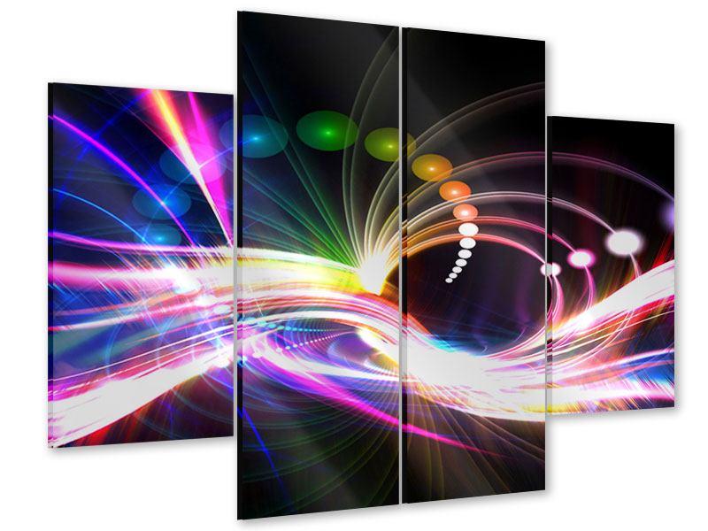 Acrylglasbild 4-teilig Abstrakte Lichtreflexe