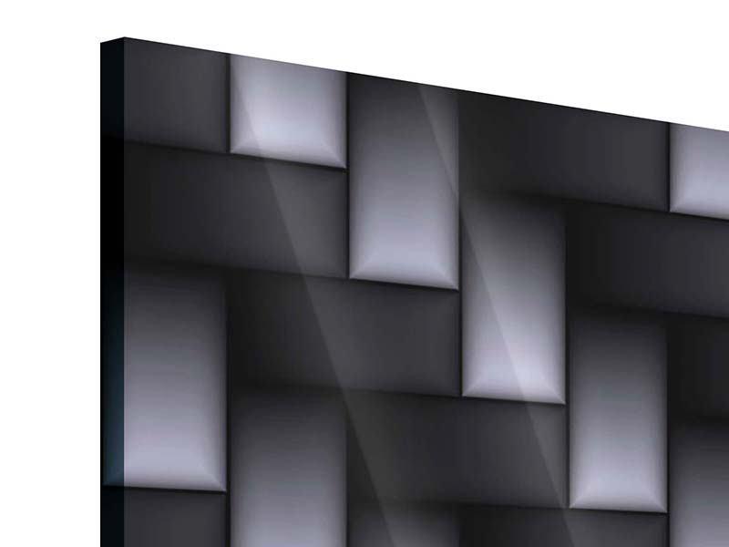 Acrylglasbild 4-teilig 3D-Treppen