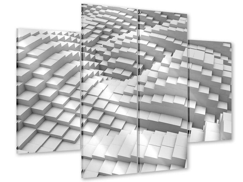Acrylglasbild 4-teilig 3D-Elemente