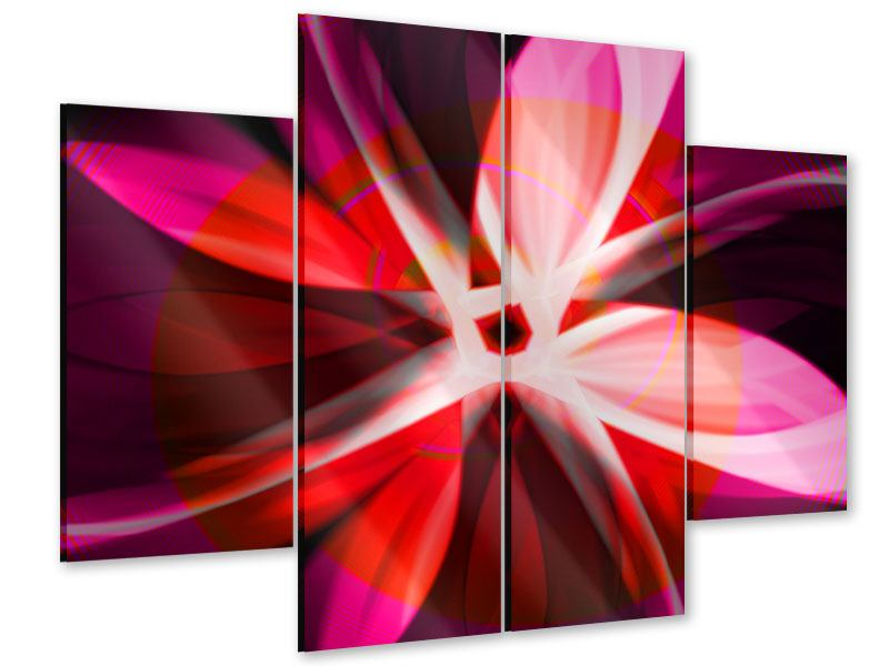 Acrylglasbild 4-teilig Abstrakt Flower Power