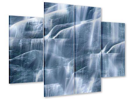 Acrylglasbild 4-teilig Grossartiger Wasserfall