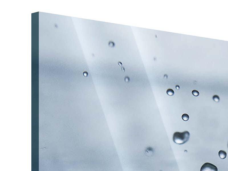 Acrylglasbild 4-teilig Wassertropfen