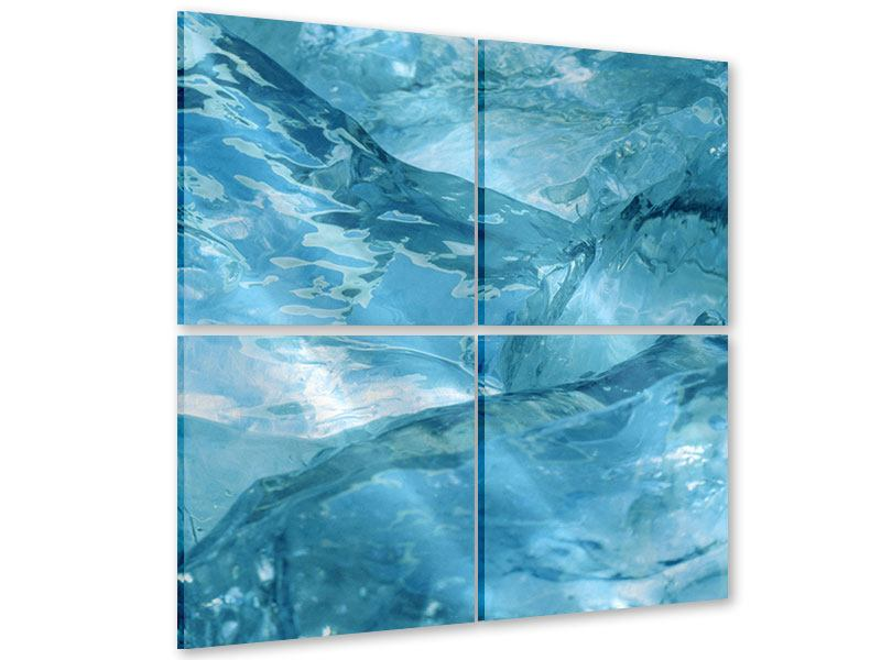 Acrylglasbild 4-teilig Cooler Eislook