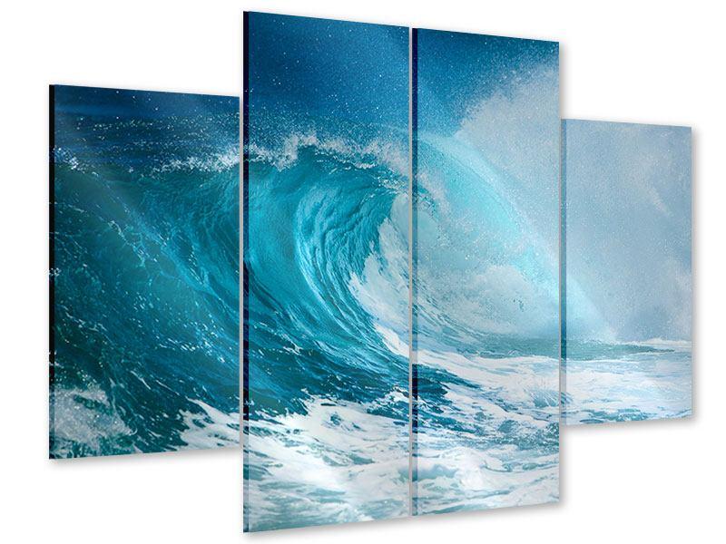 Acrylglasbild 4-teilig Die perfekte Welle