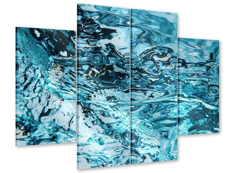 Acrylglasbild 4-teilig Schönheit Wasser