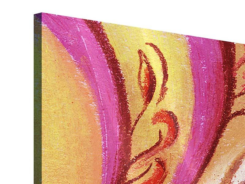 Acrylglasbild 4-teilig XL Paisley