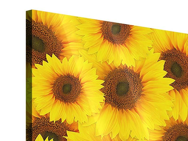 Acrylglasbild 4-teilig Ein Strauss Sonnenblumen
