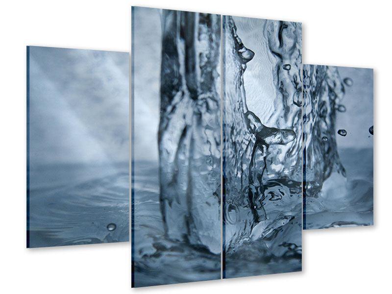 Acrylglasbild 4-teilig Wasserdynamik