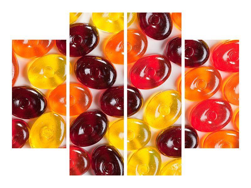 Acrylglasbild 4-teilig Bonbons