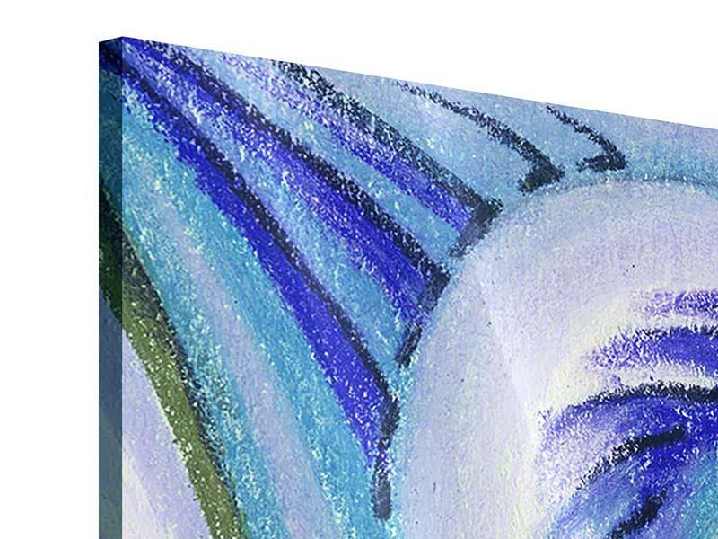 Acrylglasbild 4-teilig Paisleymuster in XL