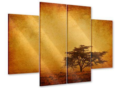 Acrylglasbild 4-teilig Sonnenuntergangsstimmung