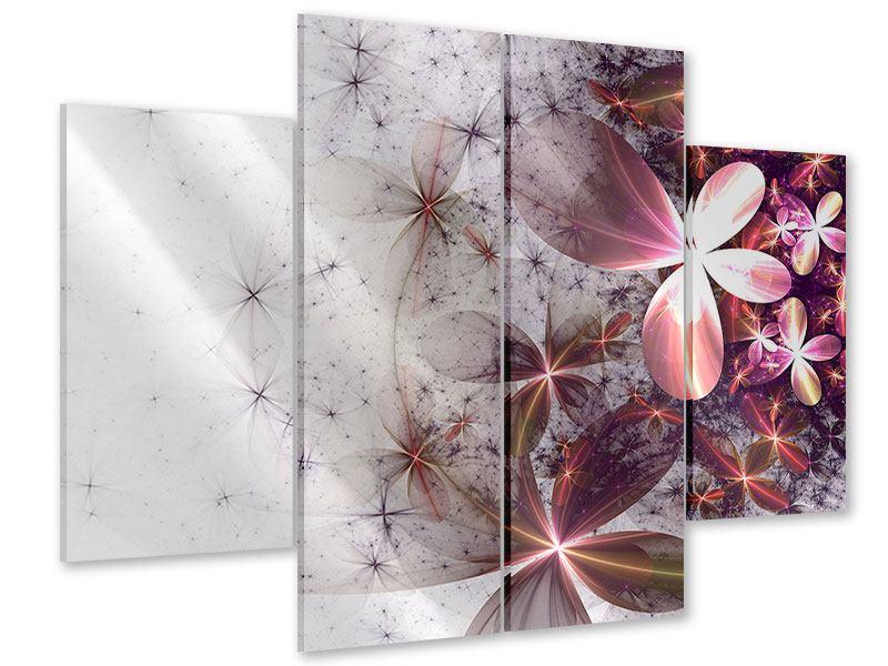 Acrylglasbild 4-teilig Abstrakte Blumen