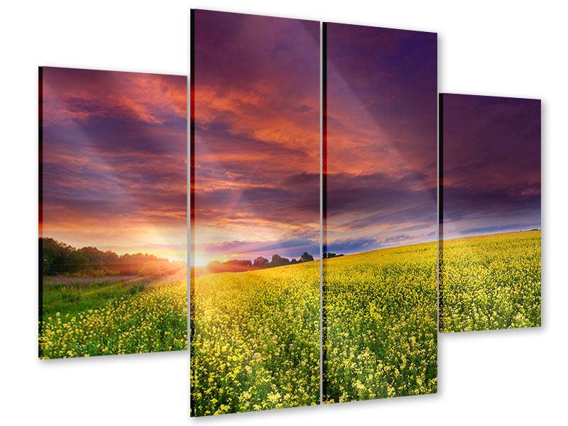 Acrylglasbild 4-teilig Abenddämmerung