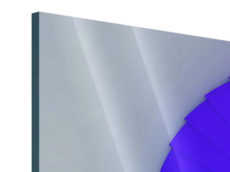 Acrylglasbild 4-teilig Bunte Wendeltreppe 3D