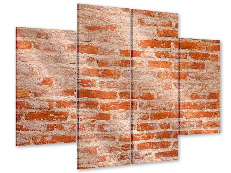 Acrylglasbild 4-teilig Mauerwerk