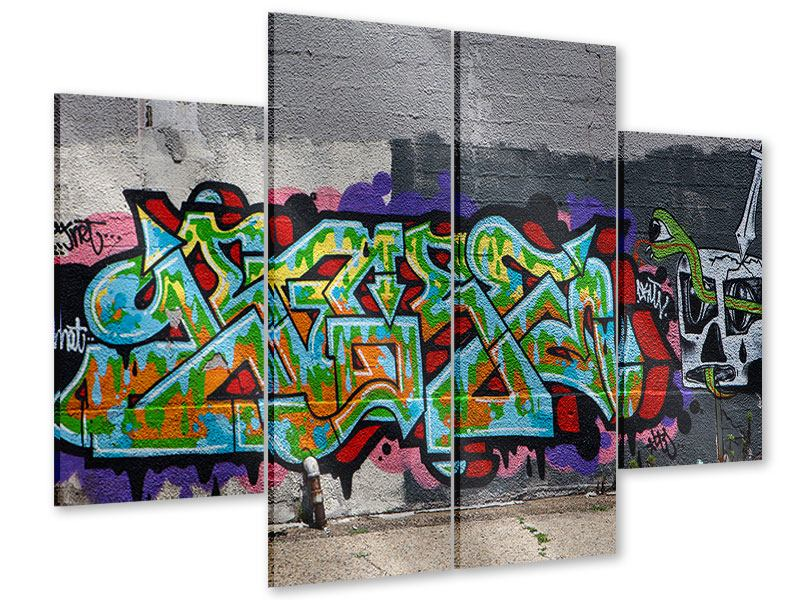 Acrylglasbild 4-teilig Graffiti in New York