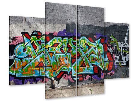 Acrylglasbild 4-teilig Graffiti in New York