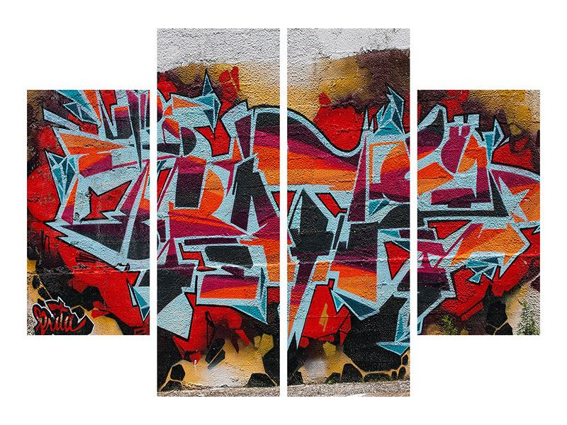 Acrylglasbild 4-teilig New York Graffiti