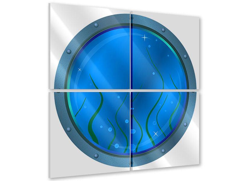 Acrylglasbild 4-teilig Bullauge