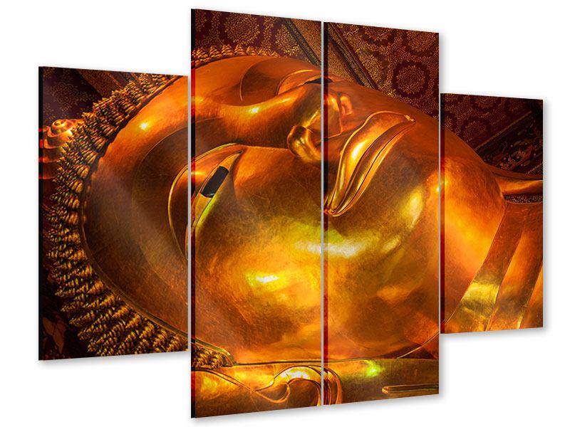 Acrylglasbild 4-teilig Liegender Buddha