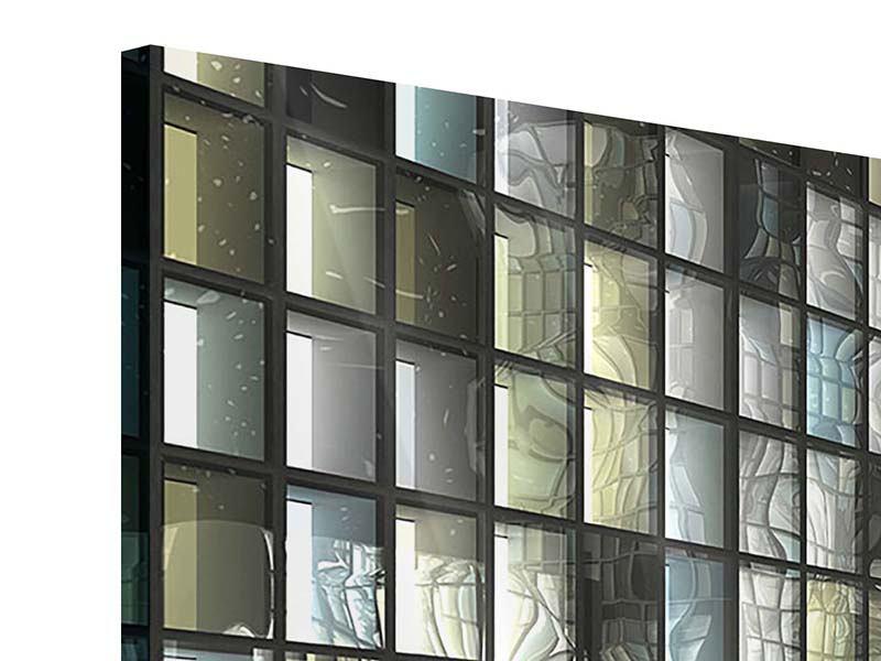 Acrylglasbild 4-teilig Windows