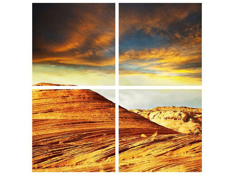 Acrylglasbild 4-teilig Die Wüste