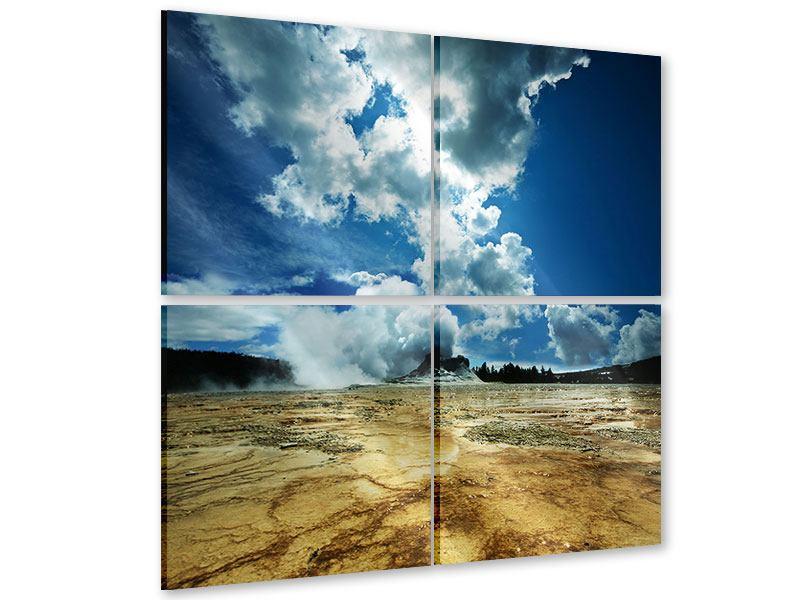 Acrylglasbild 4-teilig Vulkanlandschaft