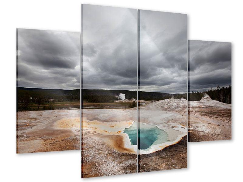Acrylglasbild 4-teilig Vulkan