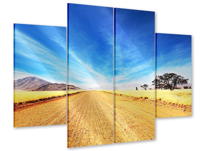 Acrylglasbild 4-teilig Eine Landschaft in Afrika