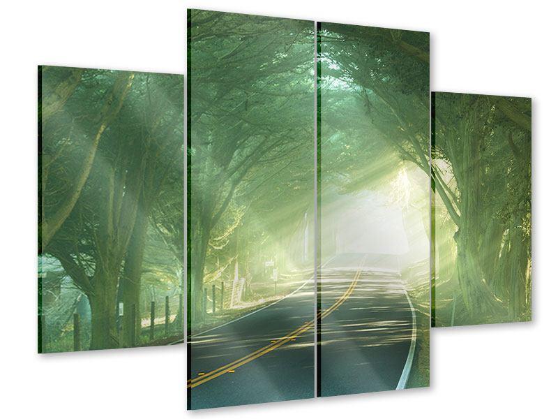 Acrylglasbild 4-teilig Die Allee