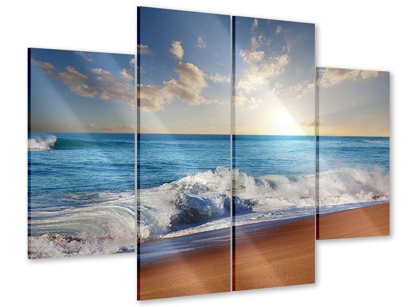 Acrylglasbild 4-teilig Die Wellen des Meeres