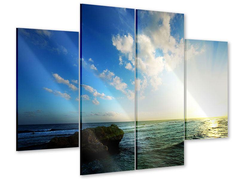 Acrylglasbild 4-teilig Die See