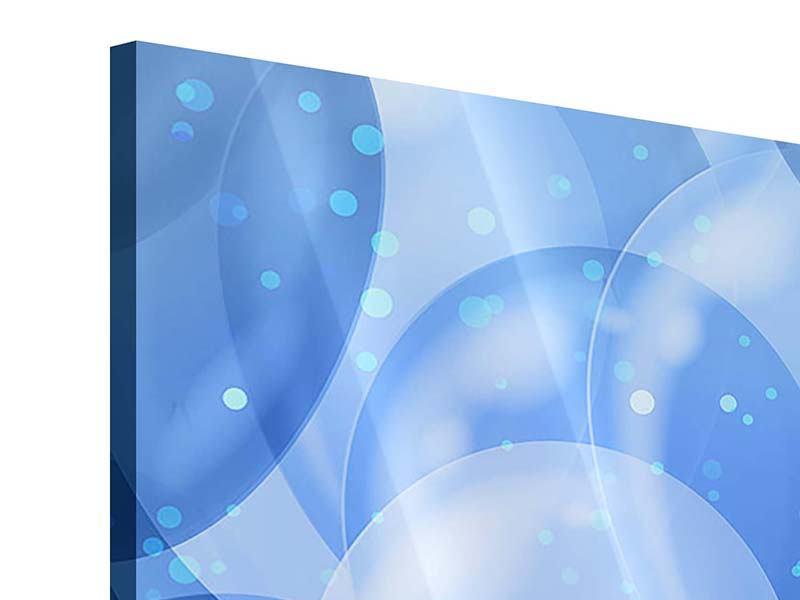 Acrylglasbild 4-teilig Blaue Ballons