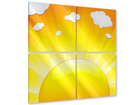 Acrylglasbild 4-teilig Die Sonne geht auf