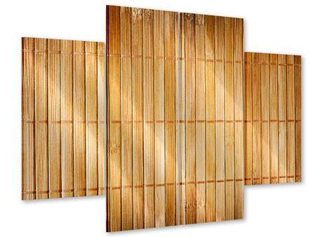 Acrylglasbild 4-teilig Bambusrohre