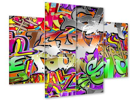 Acrylglasbild 4-teilig Writings