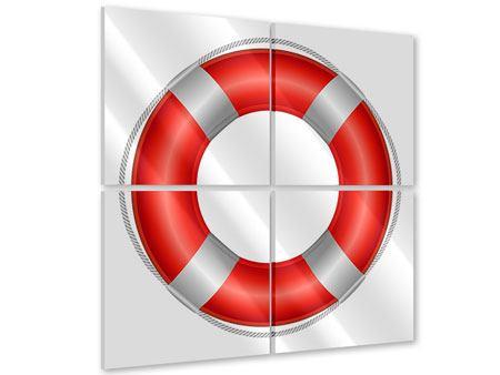 Acrylglasbild 4-teilig Rettungsring