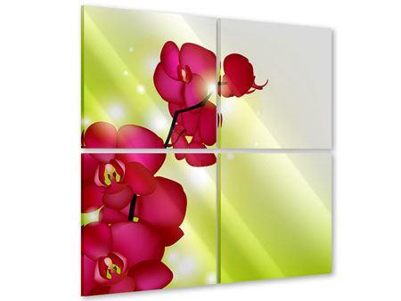 Acrylglasbild 4-teilig Heiligtum der Orchidee