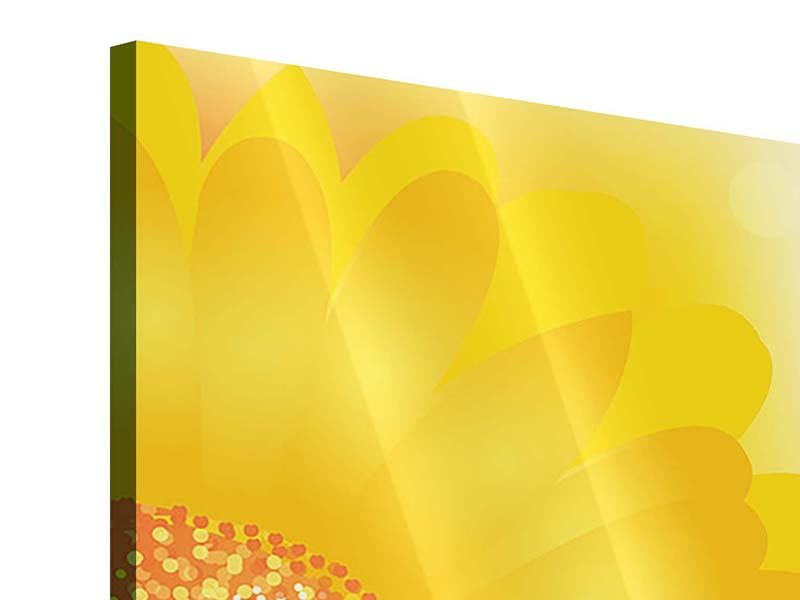 Acrylglasbild 4-teilig Sunflower Power