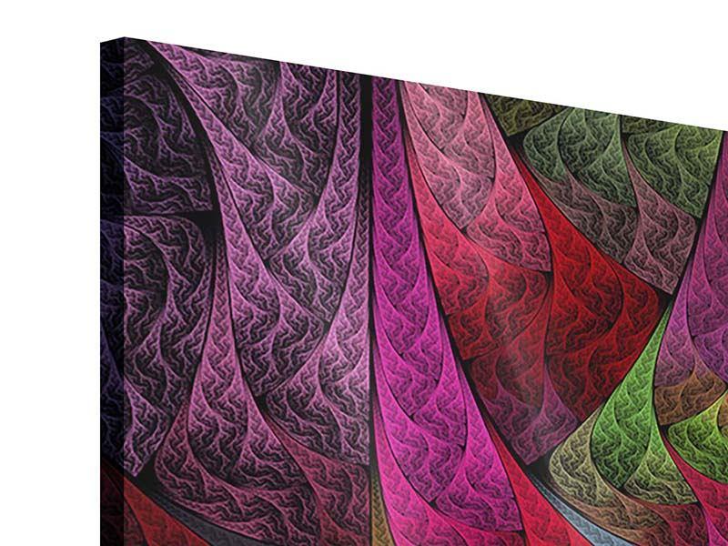 Acrylglasbild 4-teilig Fraktales Muster