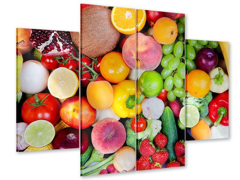 Acrylglasbild 4-teilig Frisches Obst