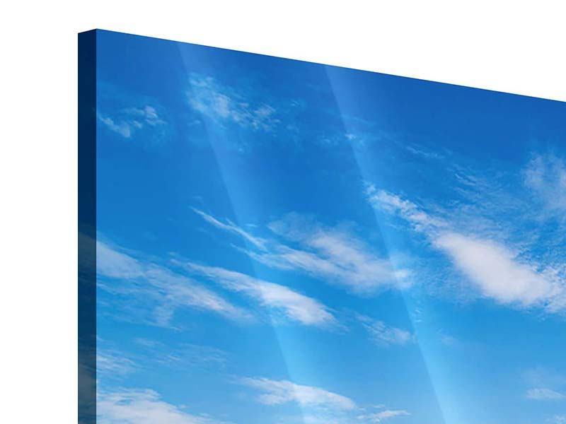 Acrylglasbild 4-teilig Blaue Lagune