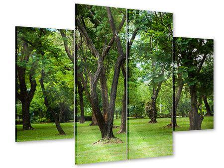 Acrylglasbild 4-teilig Kirschbaum-Garten