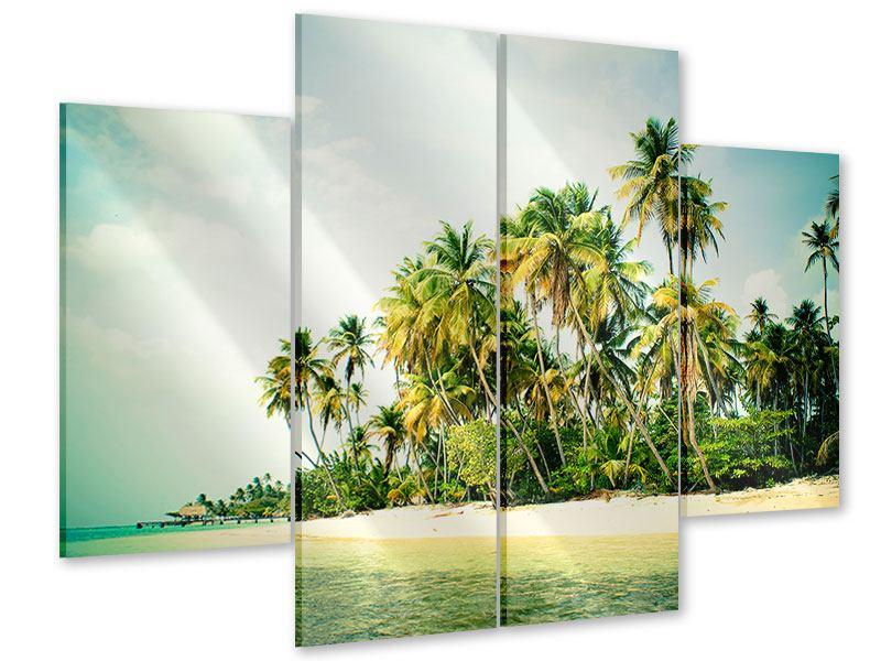 Acrylglasbild 4-teilig Tobago Cays