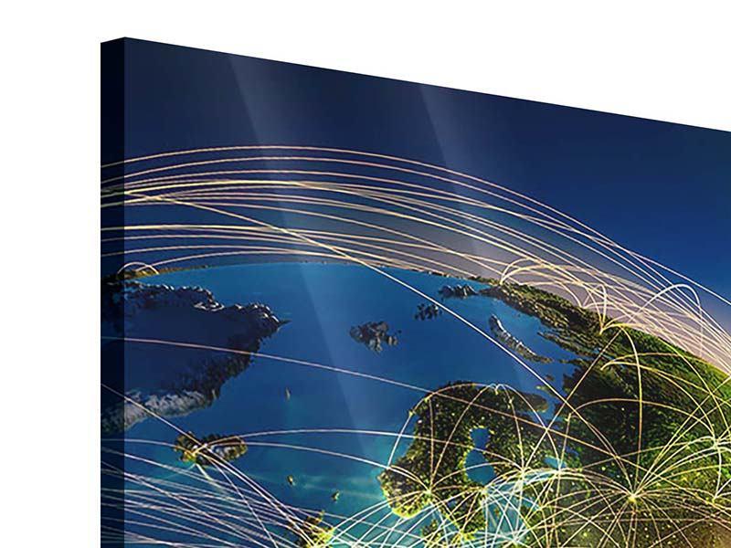 Acrylglasbild 4-teilig Der Planet Erde