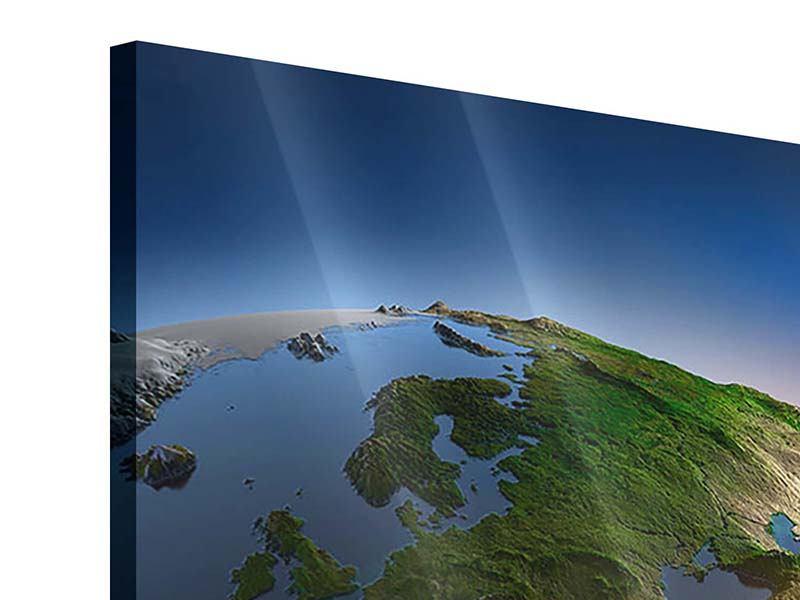 Acrylglasbild 4-teilig Sonne und Erde