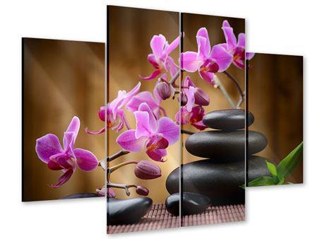 Acrylglasbild 4-teilig Wellness-Steine